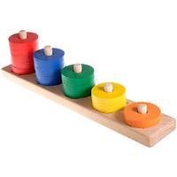 Деревянная игрушка-пирамидка Считаем до пяти от 24 месяцев