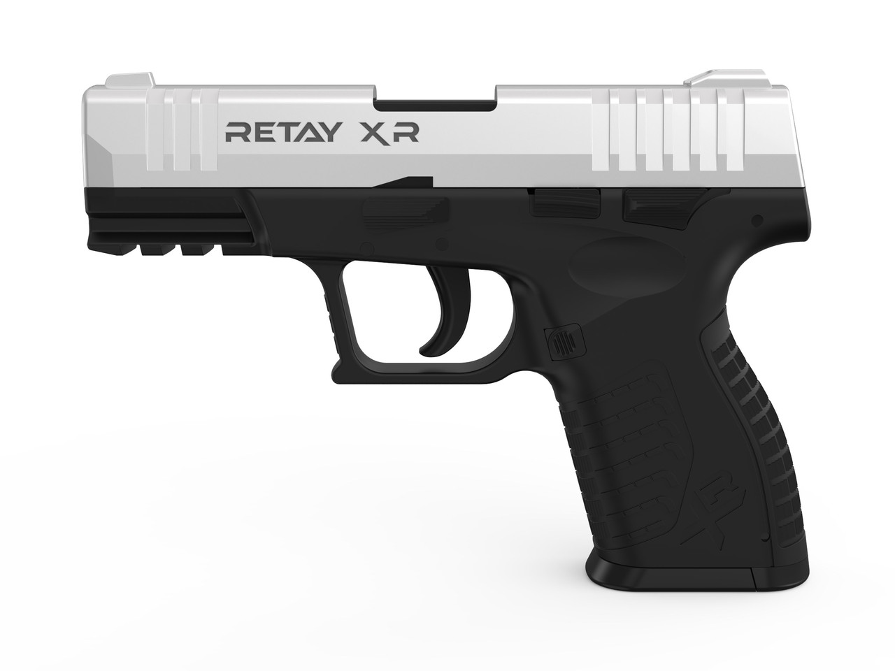 Пистолет стартовый  Retay XR, 9мм. Цвет - Chrome