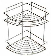 Полочка двойная угловая для ванной 33*22*22СМ