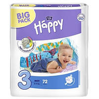 Подгузники Bella Happy 3 Midi (5-9кг) 72шт BIG PACK