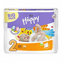 Подгузники Bella Happy 2 Mini (3-6кг) 78шт