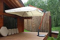 Консольный  зонт «XL» 3х4м. для улицы, пляжа, летнего кафе или бара