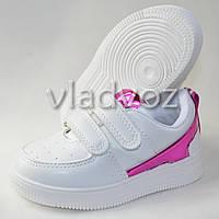 Детские кроссовки для девочки малиновая вставка Jong-Golf 23р.
