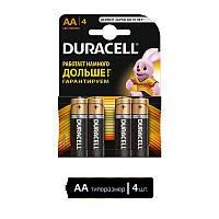 Комплект АА батареек Duracell пальчик 4 штуки