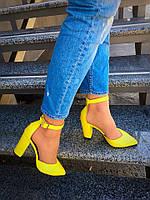 Кожаные женские туфли Olimpia желтые