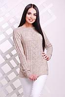 Женский тоненький свитер-реглан, капучино