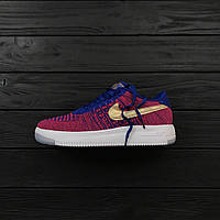 "Кроссовки Nike Air Force 1 Flyknit Low ""Red/White/Blue/Gold"""