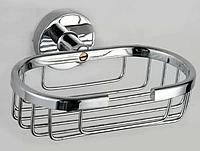 Мыльница-решетка настенная металлическая,хром