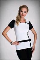 Блузка, кофточка женская с коротким рукавом Eldar ELLA 2017 офисная деловая одежда