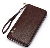 Мужской стильный портмоне клатч  PIDANLU PDL коричневого цвета