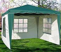 Павильон шатер садовый 3х3 м с тремя водонепроницаемыми стенками Everyday зеленый