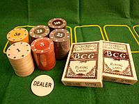 """Набор для покера на 120 фишек """" TEXAS HOLD'EM"""" в металлической коробке"""