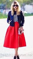 "Женская красная юбка   ""А-силуэта"" (разные цвета)"