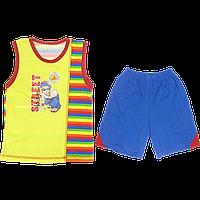 Костюмчик для мальчика: майка и шортики, тонкий хлопок; ТМ Виктория, р.98, 110, 116