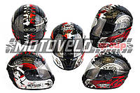 """Шлем-интеграл (mod:Fireworks) (size:XL, черно-белый +солнцезащитные очки, DICE) """"CIRUS"""""""