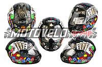 """Шлем-интеграл (mod:Fireworks) (size:L, черный +солнцезащитные очки, DICE) """"CIRUS"""""""