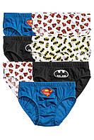 """Детские трусы для мальчика """"Супермен"""" (набор 7 шт)  1,5-2 года"""