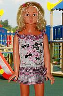 Платье (Серый с розовым)