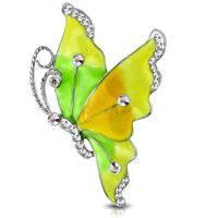 Брошь бабочка в стразах PIN 168