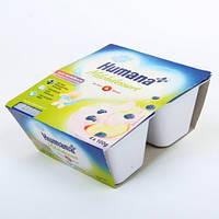 Йогурт-десерт с яблоком и чрникой, Humana 4*100 г.