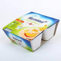 Йогурт-десерт с персиком, Humana 4*100 г.