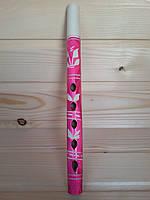 Резная деревянная дудочка 25 см для детей, розовая