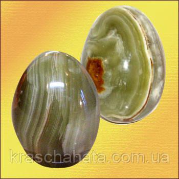 Яйцо натуральный камень, оникс, 5х7 см, Пасхальные подарки и украшения, Днепропетровск