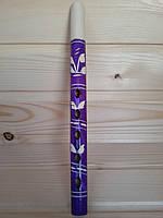 Детская деревянная дудочка (сопилка) 25 см, фиолетовая