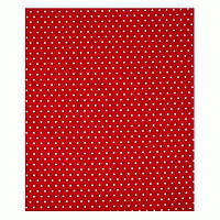 Ткань 50х50 см красная Горох белый мелкий