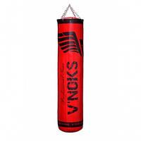 Боксерский мешок V`Noks Gel Red 1.2 м, 40-50 кг. с цепями