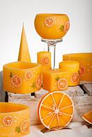 Декоративный подсвечник со свечей RAK - Pomarancza Lampion Okragly 144 - Круглый