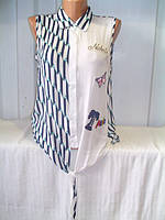 Рубашка женская штапель безрукавка опт