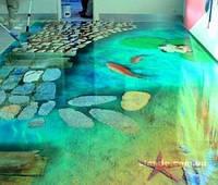 3D полы, наливные полы, декоративные полы для дома и офиса