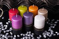 Декоративная свеча RAK - Twist Slupek 70/130 Цилиндр 70/130мм Красная