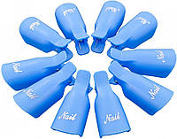 Зажим для ногтей MirAks CP-3609-10 Blue (Синий/пластик/многоразовая/10 штук)