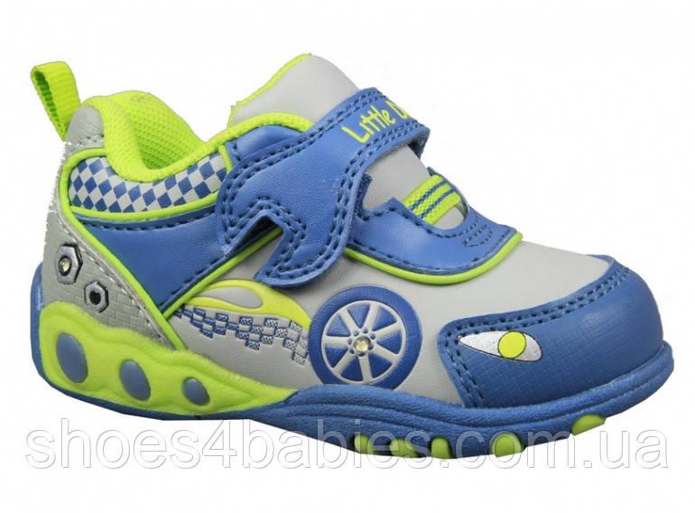 Детские кроссовки с мигалками для мальчиков B&G р. 22-24 модель LD1115-1405