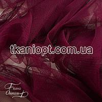Ткань Сетка стрейч (марсала)