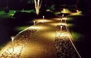 Благоустройство территории, освещение дорожек в саду