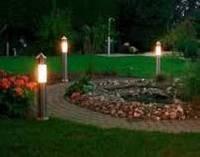 Озеленение и освещение сада