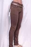 Летние цветные брюки кофейного цвета