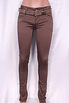 Летние цветные брюки кофейного цвета, фото 2