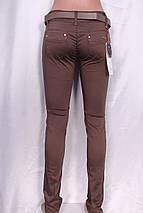 Летние цветные брюки кофейного цвета, фото 3