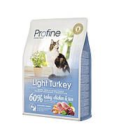 Корм Profine Cat Light Turkey, для оптимизации веса, индейка и рис, 0.3 кг 170574