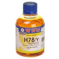 Чернила WWM для HP CB316HE/321HE (Yellow) H78/Y 200г