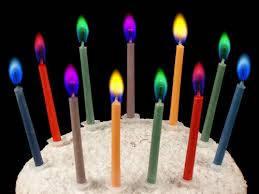 Свічки святкові, тортовые, магічні