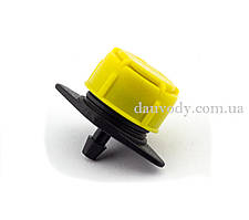 Капельница регулируемая желтая 1-4 поток 0-135 (л/ч) для капельного полива