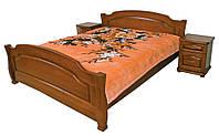 Кровать из ольхи резная Лагуна ТеМП 80×190