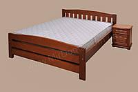 Кровать с деревянным изголовьем Альфа-3 ТеМП 80×190
