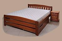 Кровать деревянная с выдвижным ящиком Альфа-3 ТеМП 80×190
