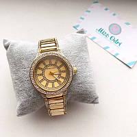 Часы Michael Kors золото с камнями